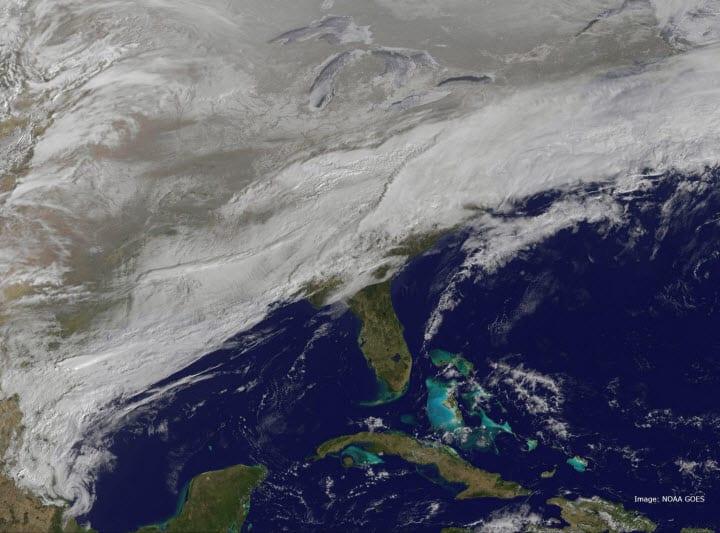 Costa orientale USA 03 03 2014 (NOAA)