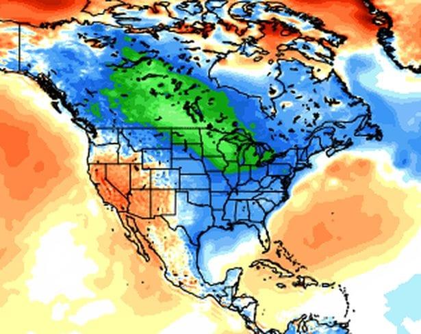 09 mag 14 ncep cfsr t2m anom ytd - Gennaio 2014: mese di poco più freddo del 2007, ma molto più piovoso e nevoso