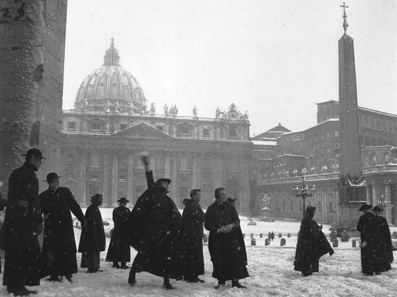 057 - Foto storica nevicata Gennaio 1985 su Roma