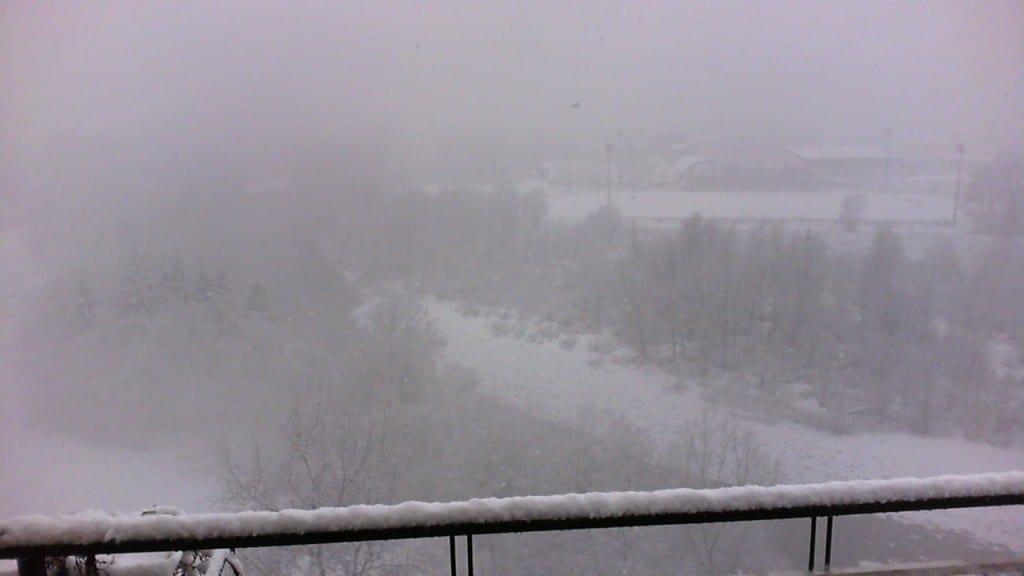 Neve su Ovada (Piemonte).