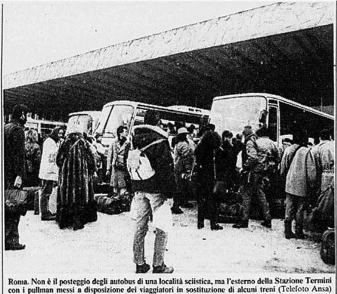 romapullman - Foto storica nevicata Gennaio 1985 su Roma