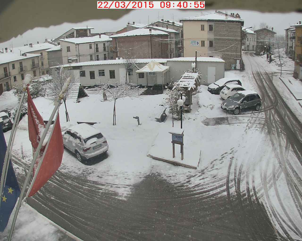 22 mar 15 campotosto - Nevica sull'Appennino Centrale
