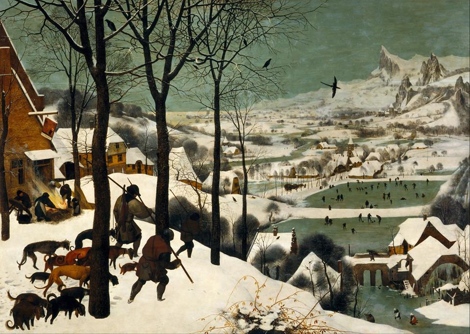 Pieter brugel il vecchio Cacciatori nella neve 1565 - La giornata gelida del 20 Gennaio 1963: