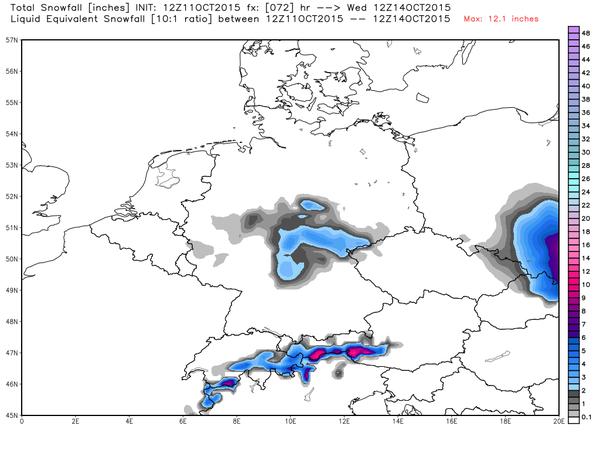 12 ott 15 germania neve - Il collasso della Circolazione Nord Atlantica porterà ad un crollo delle temperature globali per circa vent'anni!