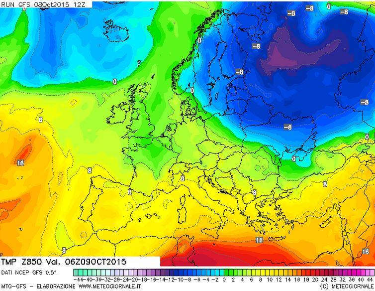 freddo europa - Imponente ondata fredda sulla Siberia, evento precoce per il mese di Ottobre