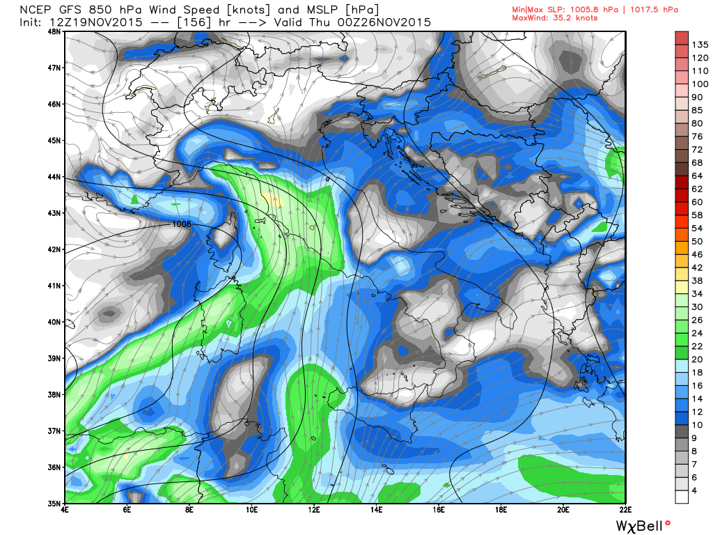 19 nov 15 gfs_mslp_uv850_italy_27