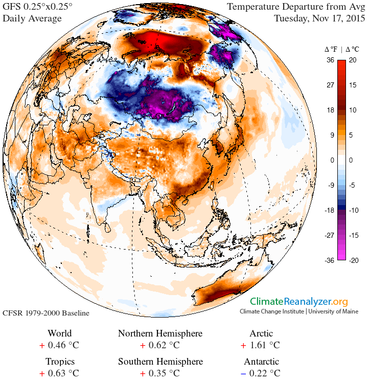 anomalie termiche siberia - Imponente ondata fredda sulla Siberia, evento precoce per il mese di Ottobre