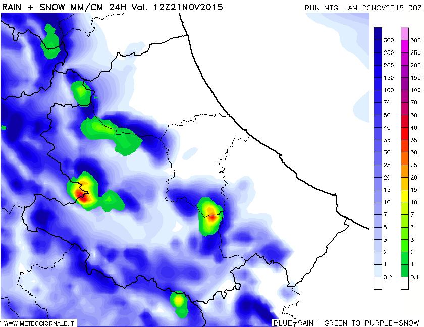 snow24h 365 - Mappe neve altissima risoluzione con focus Abruzzo