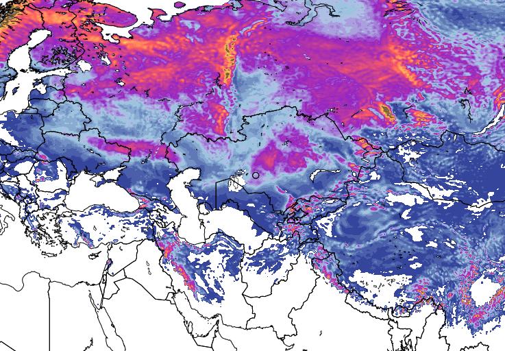 11 dic 15 gfs asnow asia 41 - Imponente ondata fredda sulla Siberia, evento precoce per il mese di Ottobre