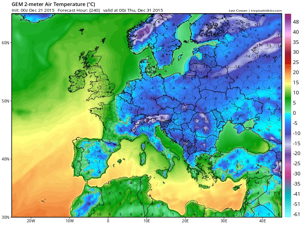 21 dic 15 gem T2m eu 41 - Imponente ondata fredda sulla Siberia, evento precoce per il mese di Ottobre