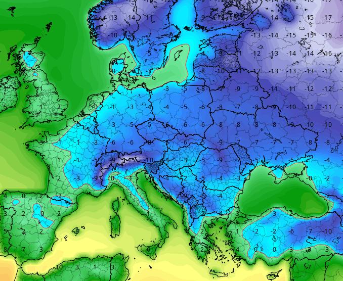 05 gen 16 gfs ens T2m eu 64 - Gennaio 2014: mese di poco più freddo del 2007, ma molto più piovoso e nevoso