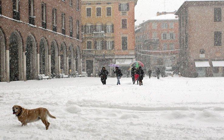 Neve su Modena, foto di repertorio.