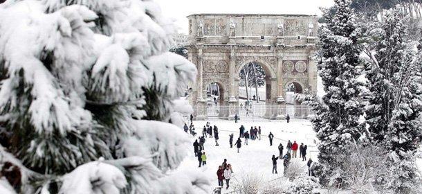Neve a Roma nel Febbraio 2012.