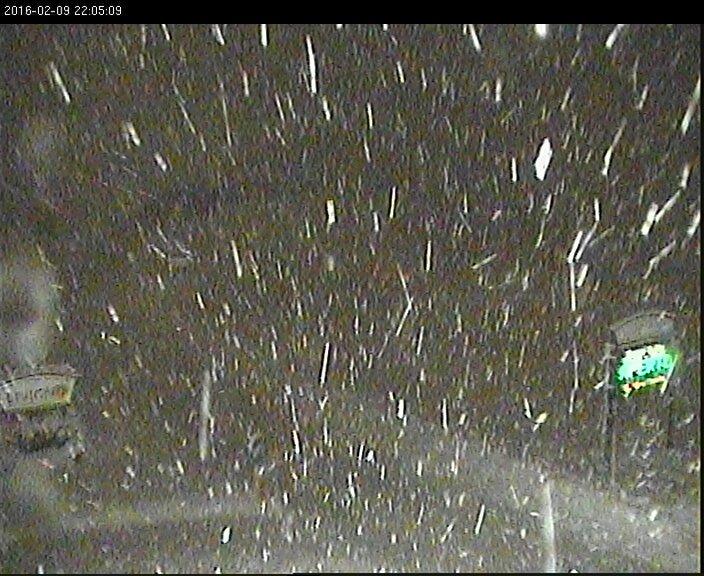 09 feb 16 lago - Serata di forti nevicate sulle Alpi!