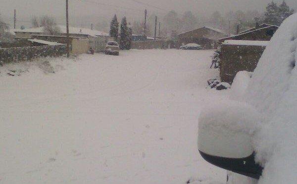 10 mar 16 Chihuahua Snowfall 8Mar2016 600x372 - Ondata di freddo in Messico: strade chiuse, neve abbondantissima!
