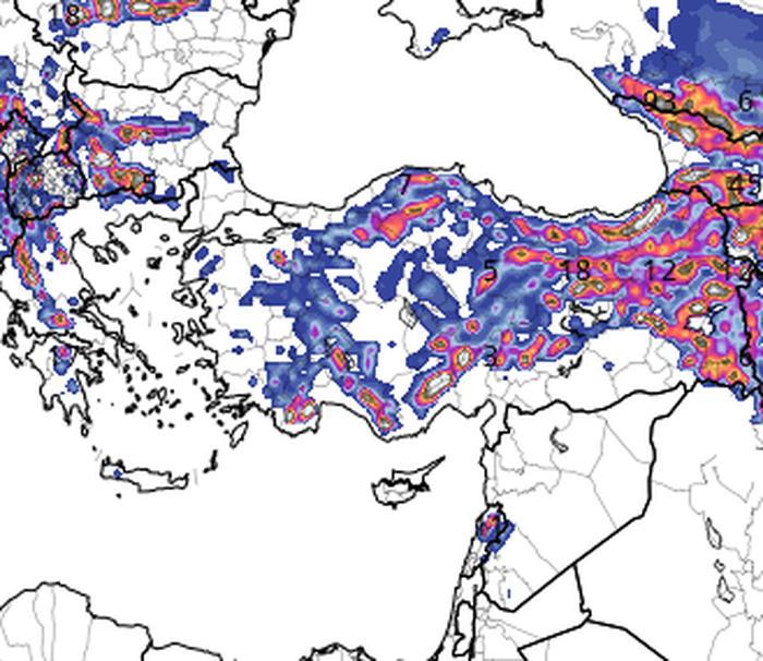 11 mar 16 gfs asnow eu 37 - Ancora tormente in neve in Turchia: un inverno di eccezionali estremi!