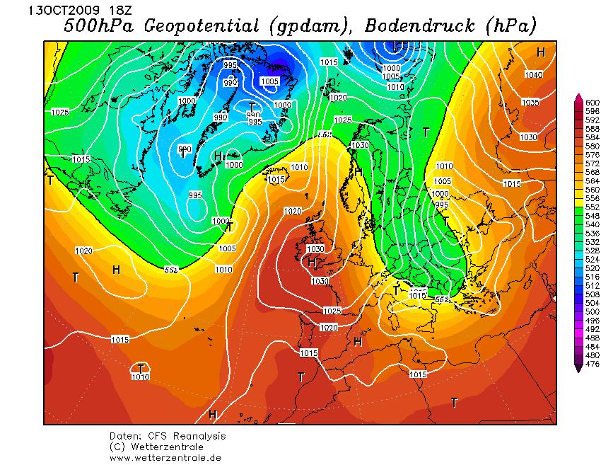 08 ott 16 CFSR 1 2009101318 1 - Prima neve sulle pianure tedesche?