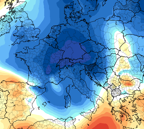 18 ott 16 ecmwf ens T850a eu 5 - Prima neve sulle pianure tedesche?