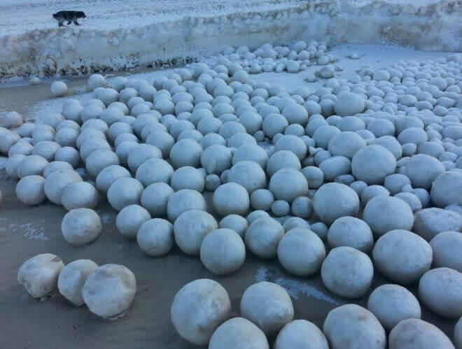 06 nov 16 snowballs - Continuano le bufere di neve sull'Europa Settentrionale!