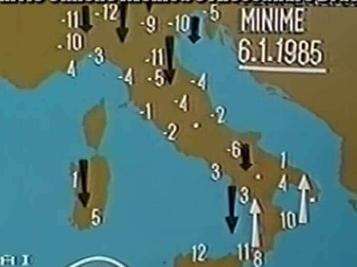 gelo 1985 - Puglia, Marzo 1987. La siberia in casa