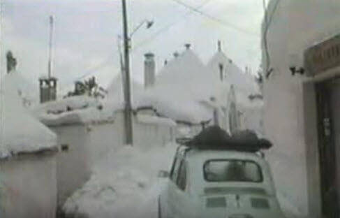 puglia neve 1987 - Puglia, Marzo 1987. La siberia in casa