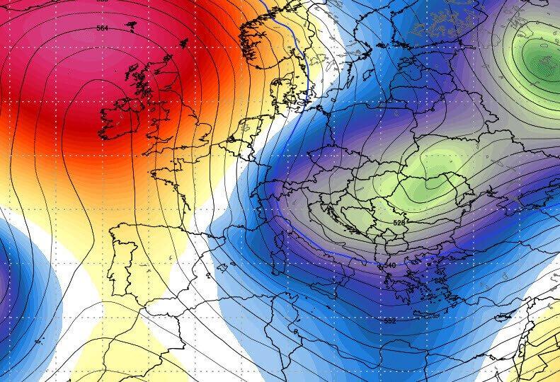Uno scorcio del trend di un giorno di Gennaio. Solo per dire che l'Inverno non finisce a Natale.
