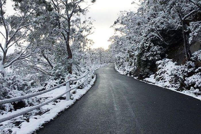 Foto di repertorio, neve estiva in Tasmania.