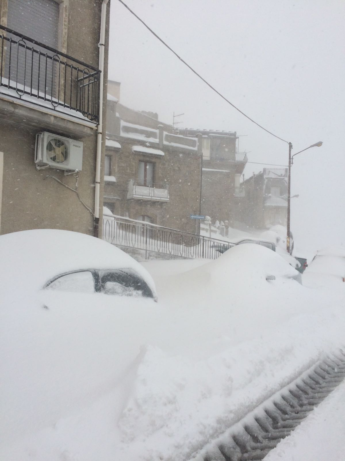 Neve in Sicilia, a Nicosia.