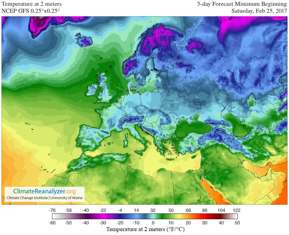 GFS 025deg EURO LC T2 min 5 day - Che disastro questo Inverno