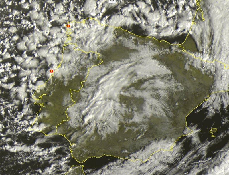 meteosat - Spagna piomba l'inverno, neve a quote basse