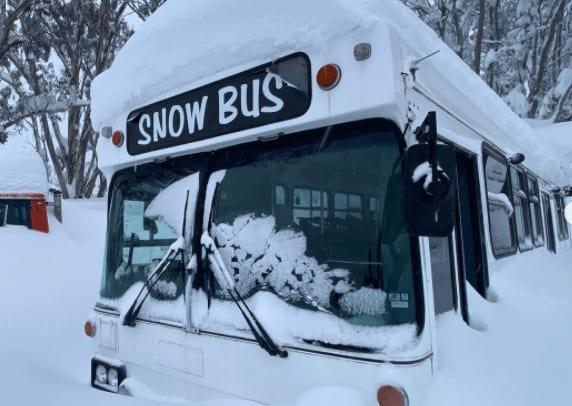 neve bus australia - Meteo: fortissime nevicate nelle Alpi australiane e la Tasmania